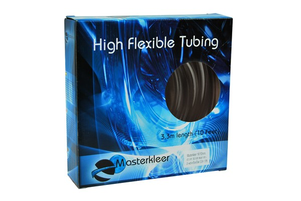"Masterkleer tubing PVC 16/10mm (3/8""ID) UV-reactive blue/clear 3,3m (10ft) ""Retail Package"""