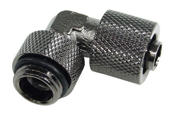 11/8mm (8x1,5mm) compression fitting G1/4 90° revolvable - knurled - black nickel