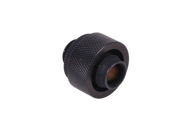 19/13mm compression fitting G1/4 - knurled - matte black