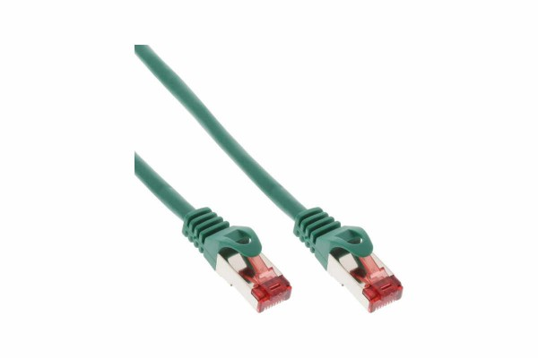 InLine® Patch Cable, S/FTP (PiMf), Cat.6,250MHz, PVC, copper, green, 1,5m