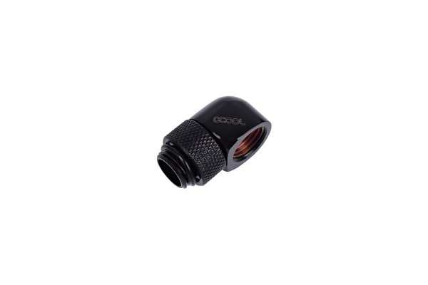 Alphacool HF L-connector G1/4 outer thread rotatable to G1/4 inner thread - Deep Black