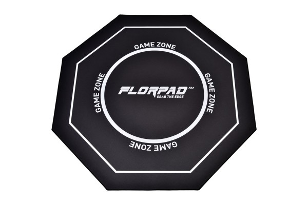 Florpad Game Zone Gamer-/eSports floor protection mat - black, soft, Core