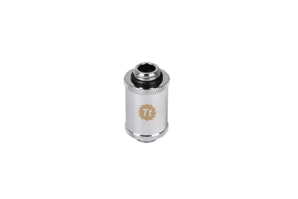 Thermaltake Pacific G1/4 auf G1/4 outer thread adapter 30mm - Chrome