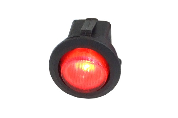 Phobya round toggle switch - red lighting - unipolar ON/OFF black (3-Pin)