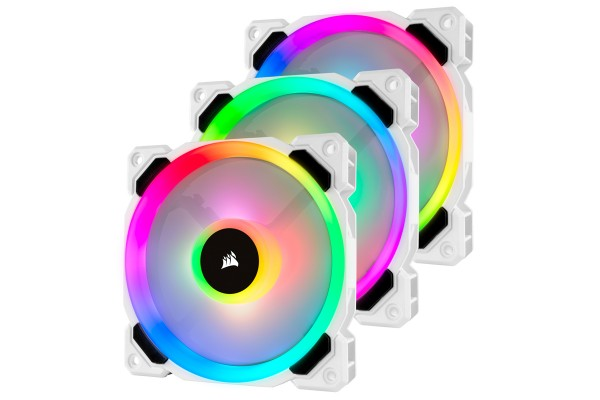 Corsair LL120 Dual Light Loop RGB LED PMW case fan - white 3-Pack