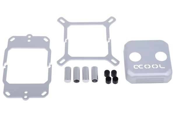 Alphacool Eisblock XPX CPU replacement cover - silver matte