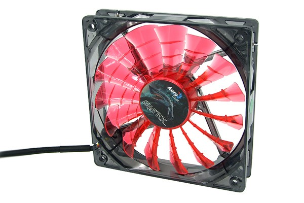 Aerocool Shark Fan Devil Red Edition - transparent black - red LED (120x120x25mm)