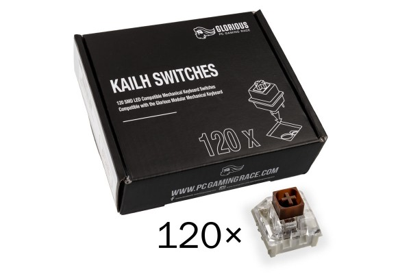 Glorious PC Gaming Race Kailh Box Brown Switches (120 pcs)