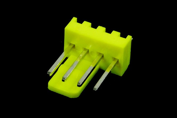 mod/smart Fan Power Connector 3+1pin PWM plug including pins - UV-reactive brite green