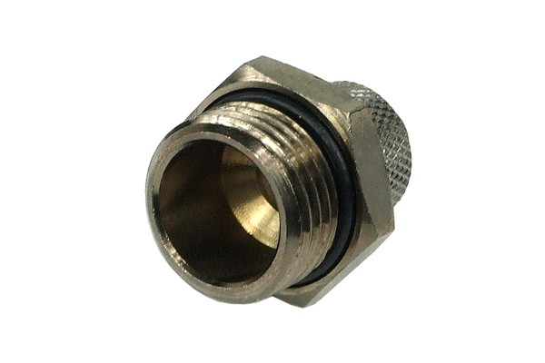 10/8mm (8x1mm) compression fitting G1/2 - black nickel