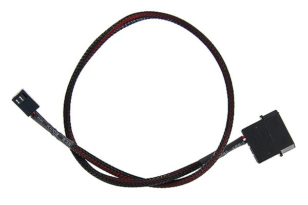 ModMyToys 4-Pin male to 3-Pin male Cable Adapter 45cm - Black