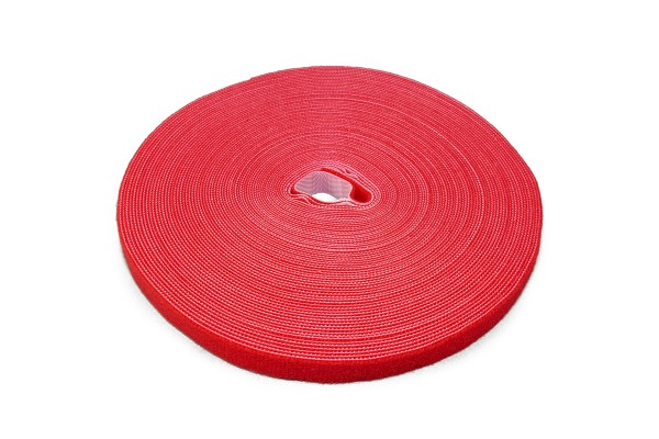 Label The Cable Hook and Loop Tape LTC ROLL STRAP, 82 ft, red