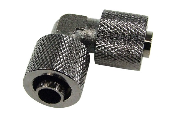 11/8mm L hose connector - knurled - black nickel