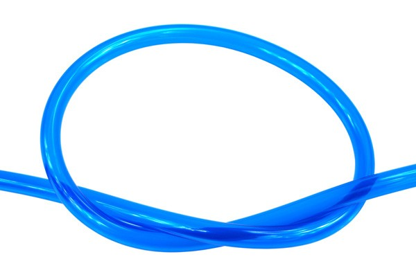 "Masterkleer tubing PVC 10/8mm (5/16""ID) UV-reactive blue"
