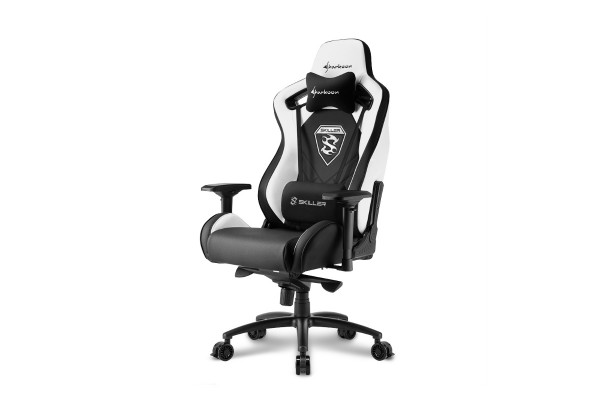 Sharkoon Skiller SGS4 gaming chair - black/white