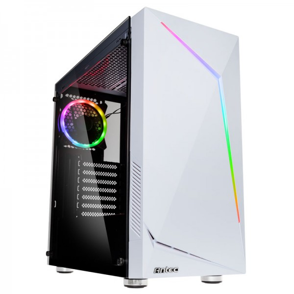 Antec New Gaming NX300 0-761345-81032-6 Midi-Tower PC case incl. window - white