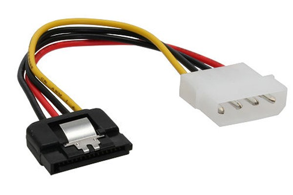 InLine® Strom/SATA cable internal 4Pin Molex to SATA 15cm