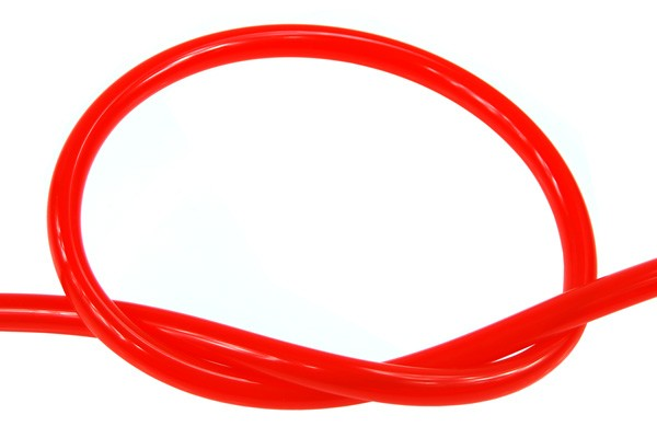 "Masterkleer tubing PVC 10/8mm (5/16""ID) UV-reactive dark red"