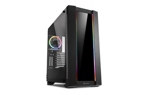 Sharkoon ELITE SHARK CA200G - Big Tower case - black incl. window