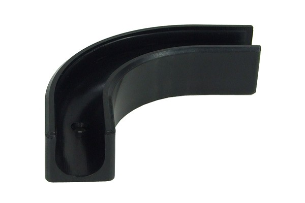 Phobya angled clip 90° for 13/10mm tubing - black