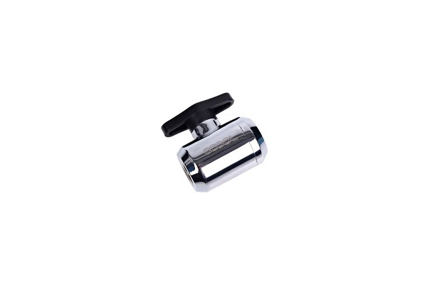 Alphacool Eiszapfen 2-way ball valve G1/4 - Chrome