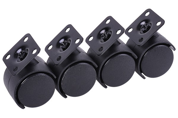 Phobya caster feet M4x10 - 4 pcs. black