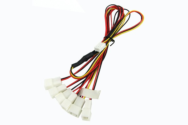 Y-Cable 3Pin Molex to 6x 3Pin Molex 60cm