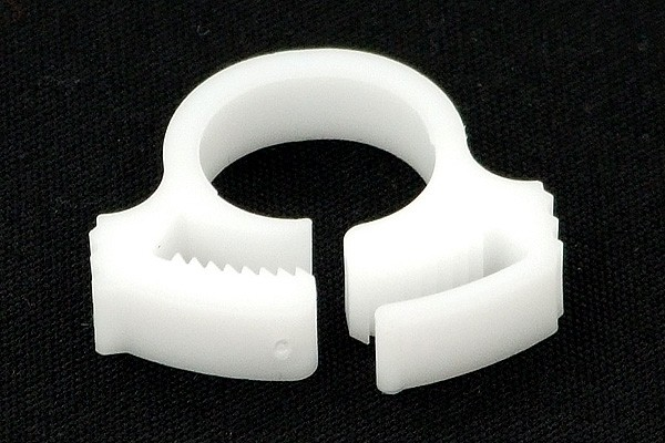 hose clamp 10 - 12mm plastics white