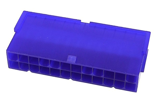 mod/smart ATX Power Connector 24Pin socket - UV-reactive purple