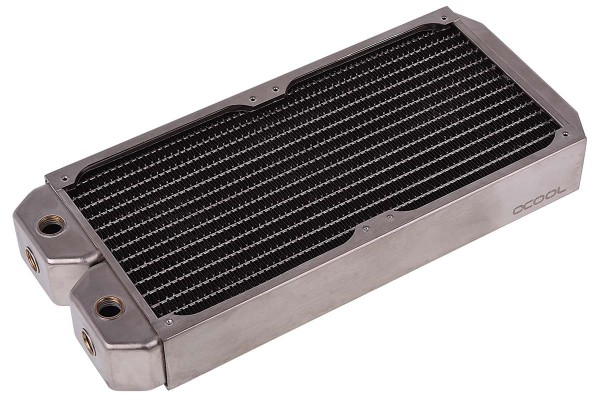 Alphacool NexXxoS XT45 Full Copper 280mm radiator - silver nickel