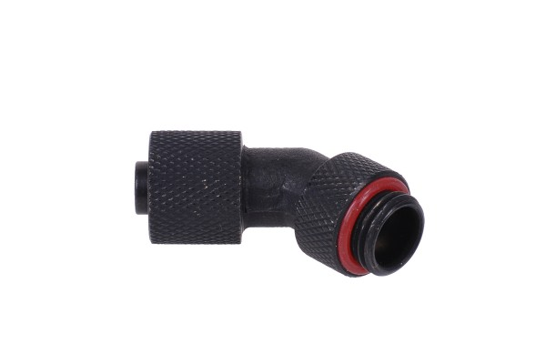 11/8mm compression fitting 45° G1/4 revolvable - knurled - matte black