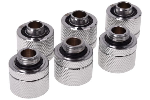 Alphacool HF 16/10 compression fitting G1/4 - chrome sixpack
