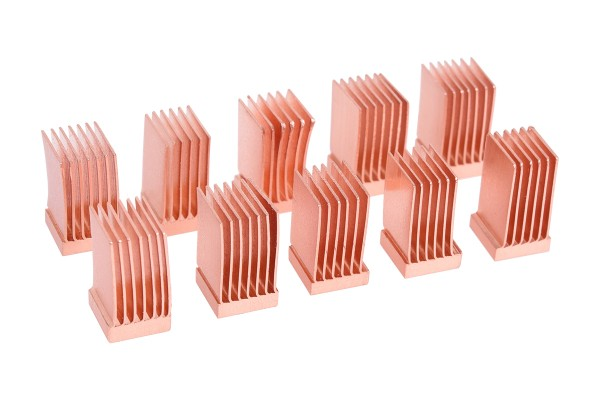 Alphacool GPU RAM Copper Heatsinks 6,5x6,5mm - 10pcs