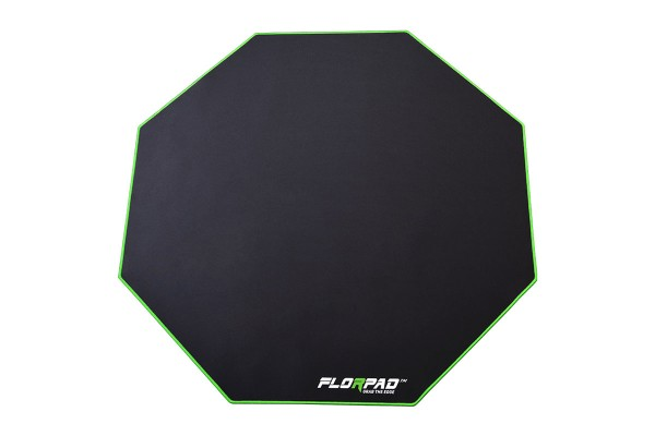 Florpad Green Line Gamer-/eSports floor protection mat - medium, green, soft, Core