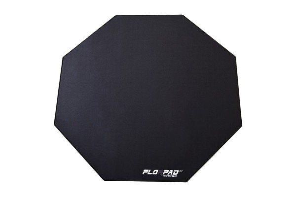Florpad Black Line Gamer-/eSports floor protection mat - medium, black, soft, Core