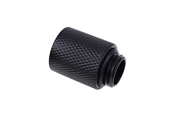 Alphacool Eiszapfen extension 20mm G1/4 outer thread to G1/4 inner thread - deep black