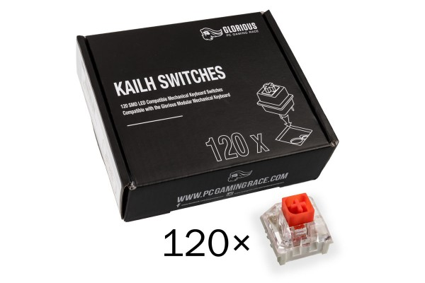 Glorious PC Gaming Race Kailh Box Red Switches (120 pcs)