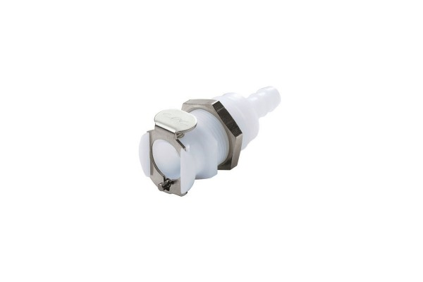 CPC quick connector series PMC - 7,9mm coupling with bulkhead fitting