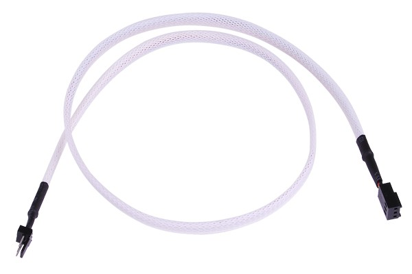 extension 3Pin Molex extra-long 60cm - uv white