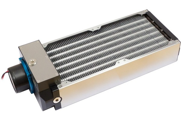 Aquacomputer airplex modularity system 280 mm, aluminum fins, D5 pump, stainless steel side panels