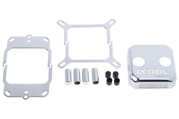 Alphacool Eisblock XPX CPU replacement cover - chrome