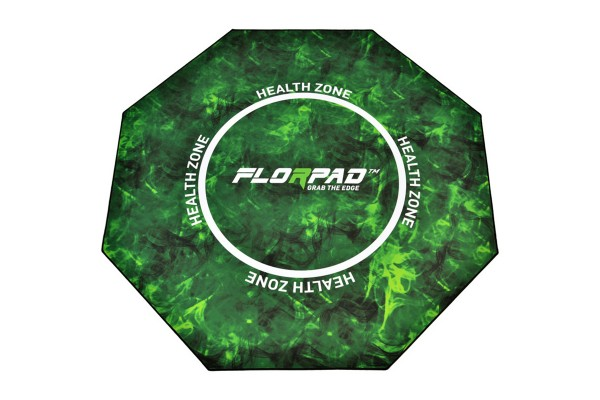 Florpad Health Zone Gamer-/eSports floor protection mat - green, soft, Core