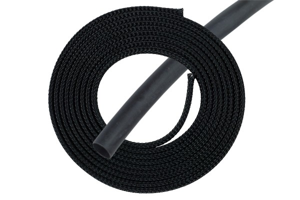 "Phobya Simple Sleeve Kit 10mm (3/8"") black 2m incl. Heatshrink 30cm"