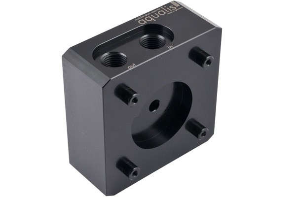 Aquacomputer pump adaptor for DDC pumps, compatible with aqualis, G1/4
