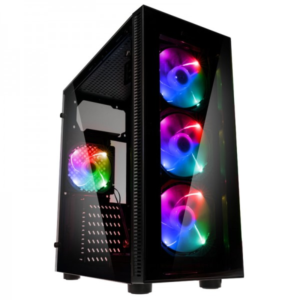 Antec NX210 0-761345-81020-3 Midi-Tower Gaming PC case RGB incl. window - black