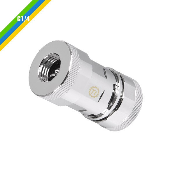 Thermaltake Pacific QC1 G1/4 quick coupling - chrome