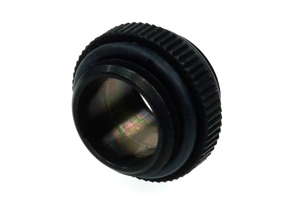 Alphacool double nipple G1/4 outer thread to G1/4'' outer thread with O-ring - deep black