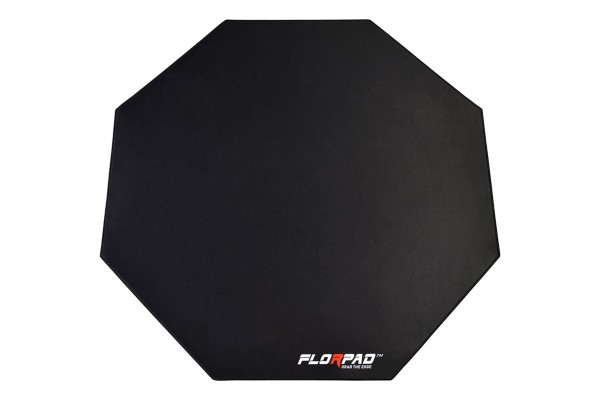 Florpad Space Gray Gamer-/eSports floor protection mat - black/grey, soft, Core