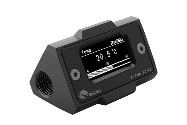 Bykski B-TME-SC-V2-BK Digital temperature sensor with HD LCD screen - black