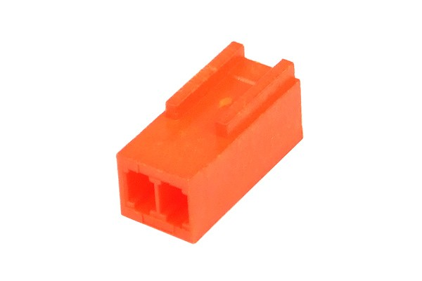 mod/smart Fan Power Connector 2Pin socket - UV-reactive brite orange